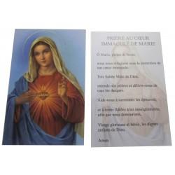 Carte prière Sacré Coeur de Marie