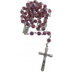 Chapelet violet/rose ND de Lourdes