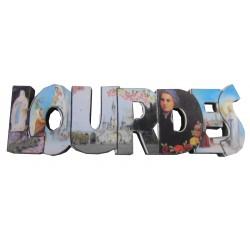 Magnet ND de Lourdes en lettres