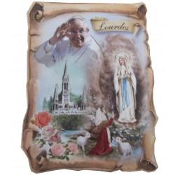 Magnet parchemin ND de Lourdes Pape