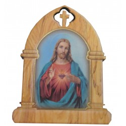 Magnet bois sacré Coeur de Jésus