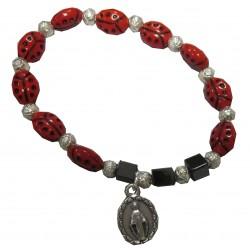 Bracelet coccinelles Vierge Miraculeuse