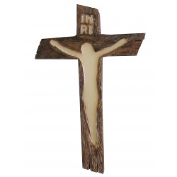 Crucifix marron / phosphorescent