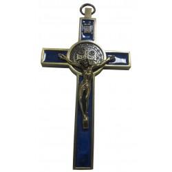 Croix Saint Benoit bleu 12,5