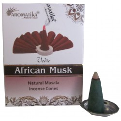 """Encens cônes African Musk """"Védic Aromatika"""""""