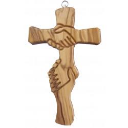 Croix de L'amitié bois d'olivier