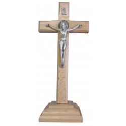Crucifix sur socle Saint Benoit