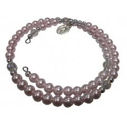 Bracelet perles double rose V Miraculeuse