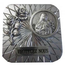Magnet carré argenté Ste Thérèse