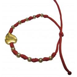 Bracelet rouge coeur NDL