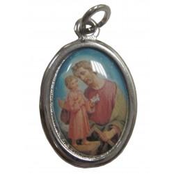 Médaille ovale résine Saint Joseph