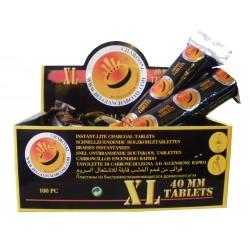 Boite de 100 pastilles de charbons ardents 40mm