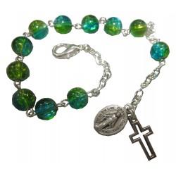 Dizainier vert/bleu Vierge Miraculeuse