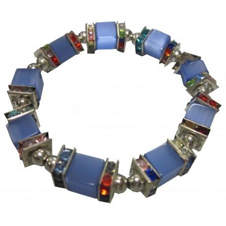Bracelet bleu cube