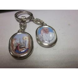 Porte-clés Pape Notre Dame de Lourdes