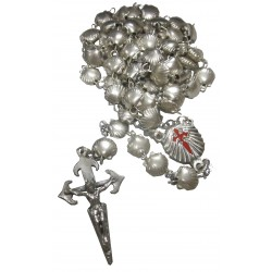 Chapelet métal argenté Saint Jacques de Compostelle