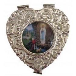 Boite coeur Notre Dame de Lourdes