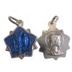 Médaille étoile argenté bleue NDL