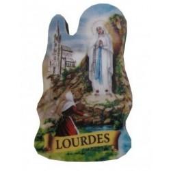 Magnet bois Notre Dame de Lourdes