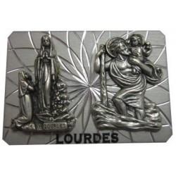 Plaque auto Notre Dame Lourdes SC