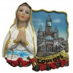 Magnet résine Notre Dame de Lourdes