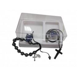 Coffret bracelet croix hématite